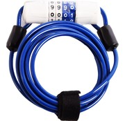 Dunlop Fietsslot Kabelslot Cijferslot 180cm x 4mm Blauw - Combinatieslot - Combination Lock - Fiets , scooter - Fietsslot Combinatie - combinatie fietsslot - fietsslot met code