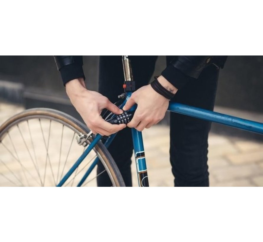 Fietsslot Kabelslot Cijferslot 180cm x 4mm Grijs - Combinatieslot - Combination Lock