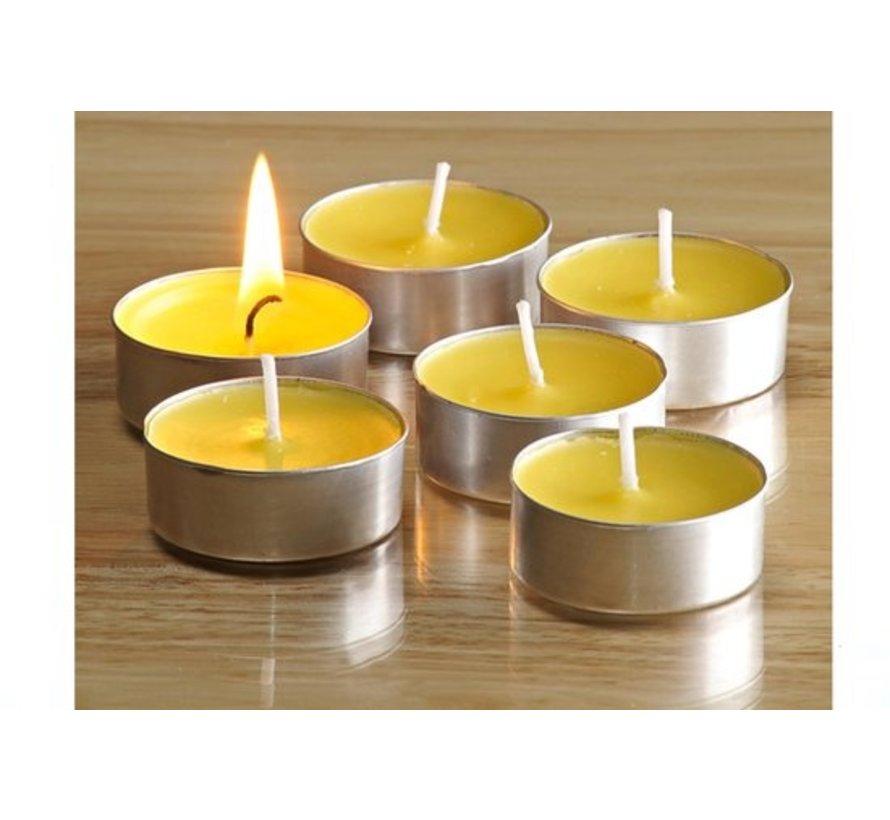 Geurtheelichten Theelichten met 3 Branduren Waxinelichtjes Geurtheelichten 16 stuks  met Geur - Citroen geur theelichten
