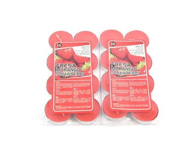 Merkloos Scented Tealights - Tealights with 4 Burning Hours - Tealights - Scented Tealights -tealights - 16 pieces Tealights with Fragrance - Strawberry scented tealights