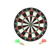 Merkloos Dartbord - 28 cm - tweezijdig - met 4darts