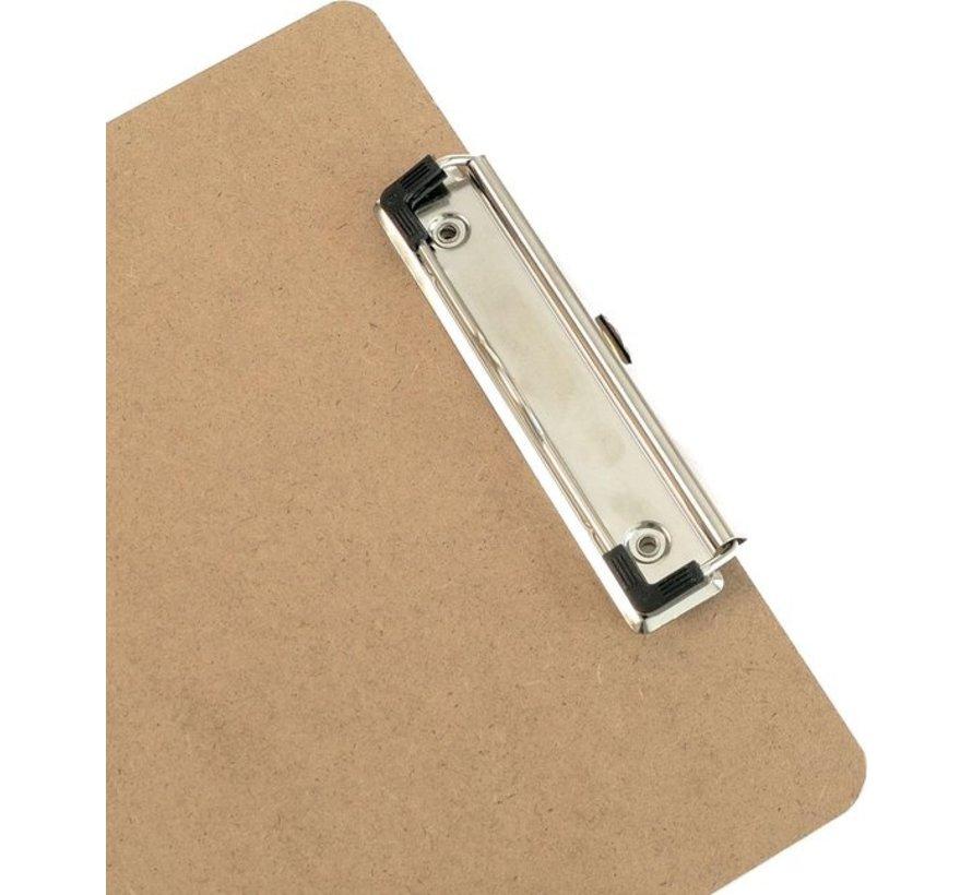 2x Klemborden - Klemborden A4 - Klemborden hout A4 31 x 22 x 1.5 cm