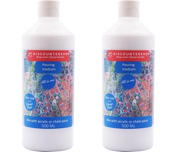 Discountershop Pouring medium 2x 500 ML Pouring medium Ready-to-use aid