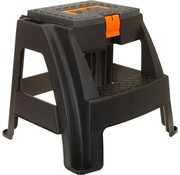 Discountershop Step stool / tool stool with storage compartment and handle 47x41x42cm