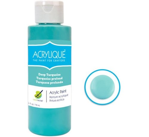 """Merkloos Acrylverf waterbasis Deep Turquoise """" turkoois"""" 118ml - Sneldrogend waterbasis Permanent"""
