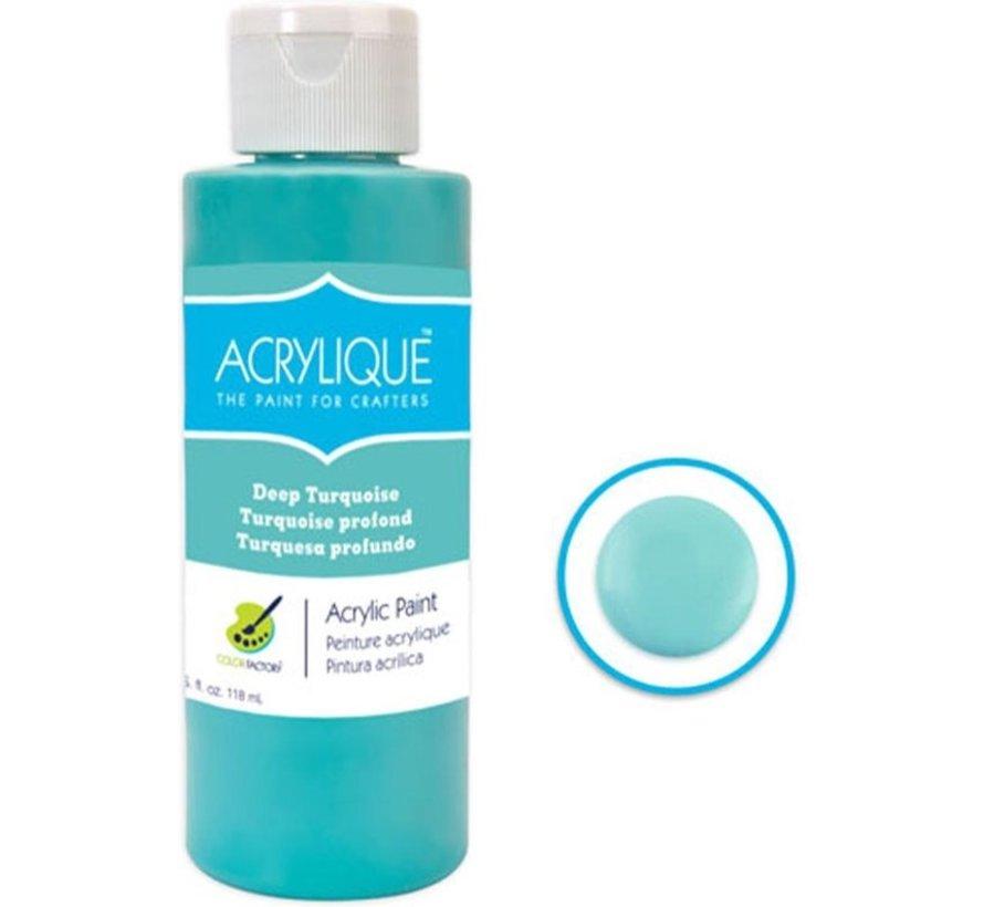 "Acrylverf waterbasis Deep Turquoise "" turkoois"" 118ml - Sneldrogend waterbasis Permanent"