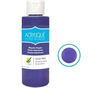 """Merkloos Acrylverf waterbasis Majestic purple """" Majestueus paars"""" 118ml - Sneldrogend waterbasis Permanent"""