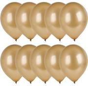Merkloos 10x Gouden ballonnen - 27 cm - ballon goud voor helium of lucht