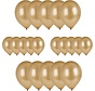 20x Gouden ballonnen - 27 cm - ballon goud voor helium of lucht