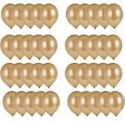 Merkloos 40x Gouden ballonnen - 27 cm - ballon goud voor helium of lucht