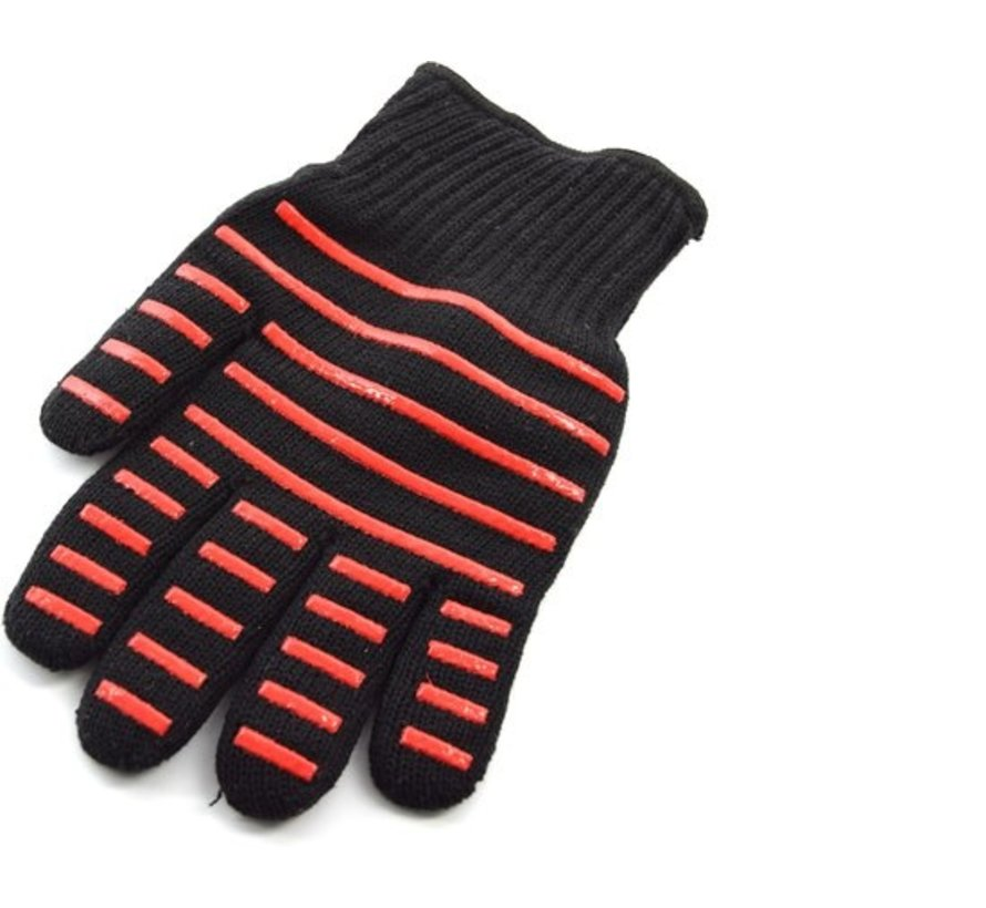 Barbecue - BBQ gloves 2 pieces - 25 cm cotton