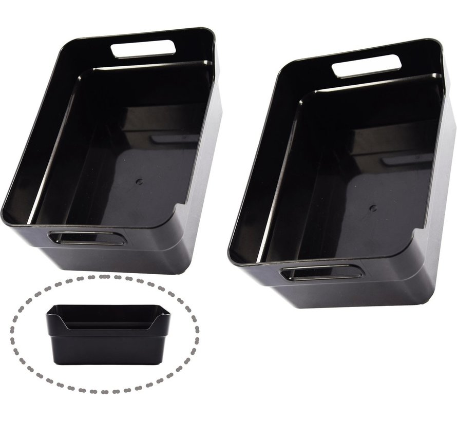 Opberg box kopen- Bakjes - Opbergbak - Gereedschapsbak 4 stuks - afmeting 200 mm x 140 mm x 80mm - Opbergbox