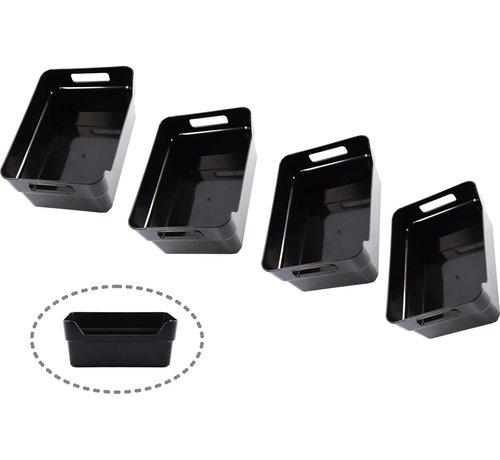 Merkloos Opberg box kopen- Bakjes - Opbergbak - Gereedschapsbak 4 stuks - afmeting 200 mm x 140 mm x 80mm - Opbergbox