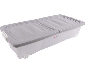 Discountershop Opbergbox - onderbedbox - Onderbedbox 32 liter -Grijs