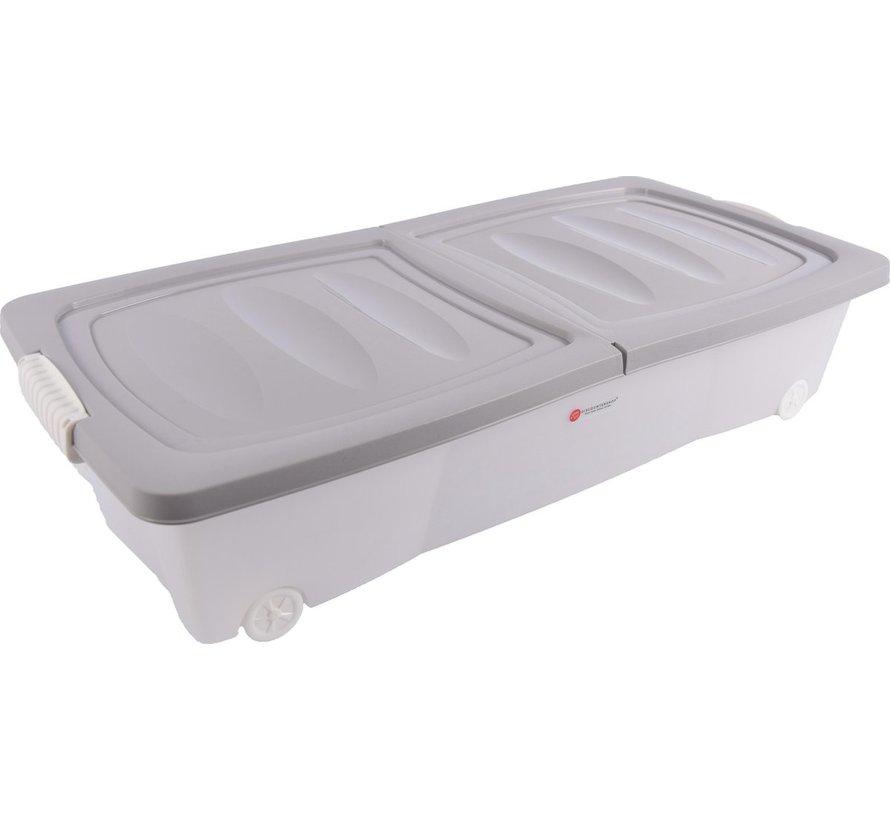 Opbergbox - onderbedbox - Onderbedbox 32 liter -Grijs
