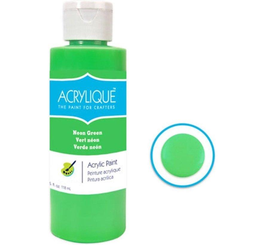 Acrylverf waterbasis Neon Groen 118ml - Sneldrogend waterbasis Permanent