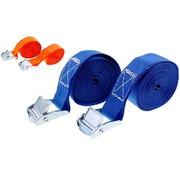 Merkloos 4x Spanbanden blauw 2 x 3,5 meter - Opbergen en verhuizen