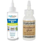 Merkloos Water resistant wood glue - Wood glue - NO Harmful substances - white wood glue - Wood glue 2 pieces per bottle 60ML