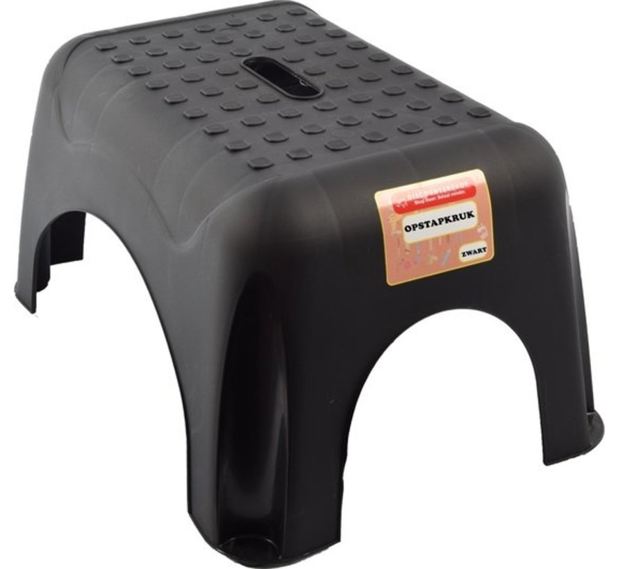 2 x Step stool in black with anti-slip surface 42 x 29 cm