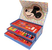 Disney Micky Mouse Disney Mickey mouse Coloring set 42-piece Disney Coloring box with drawer - Mickey mouse crayons - watercolors Micky mouse - Marker color - Markers - 42 pieces.