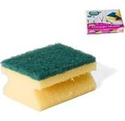 Merkloos 8x stuks schuursponzen / schuursponsjes met handgreep - 9 x 6.5 cm - sponzen / schoonmaakartikelen / reinigingsartikelen
