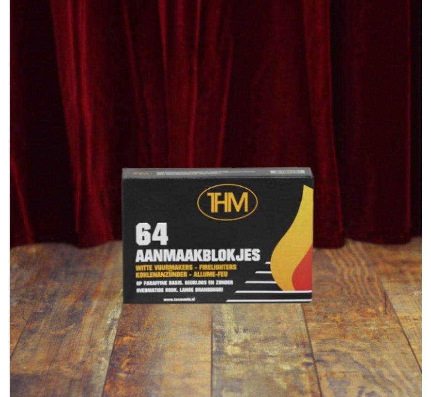 2X houtskoolbriketten inclusief aanmaakblokjes 64 Stuks