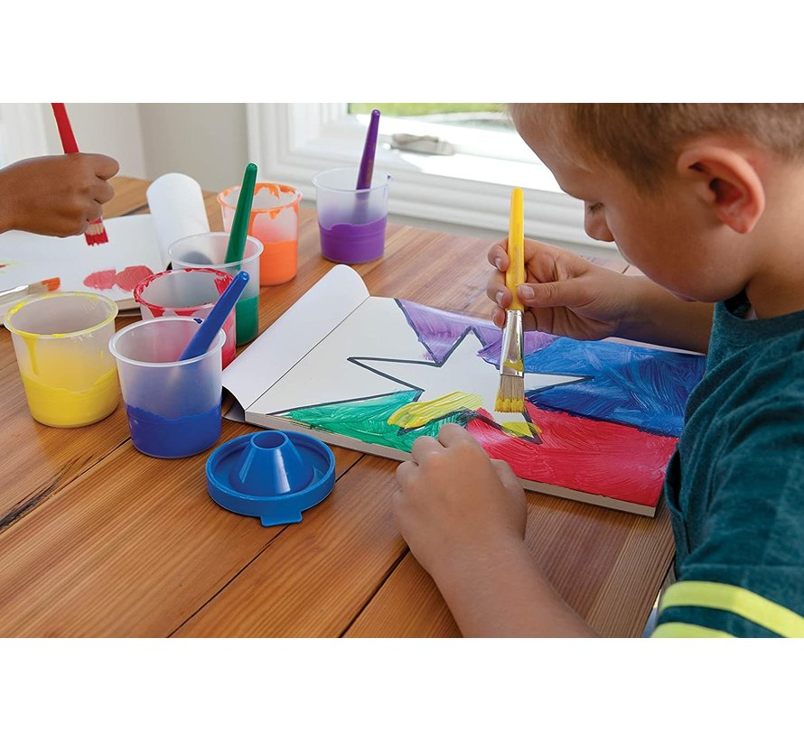 Plakkaatverf Discountershop - Plakkaatverf Basic waterbasis 250 ML - Plakkaatverf kinderen - Blauw