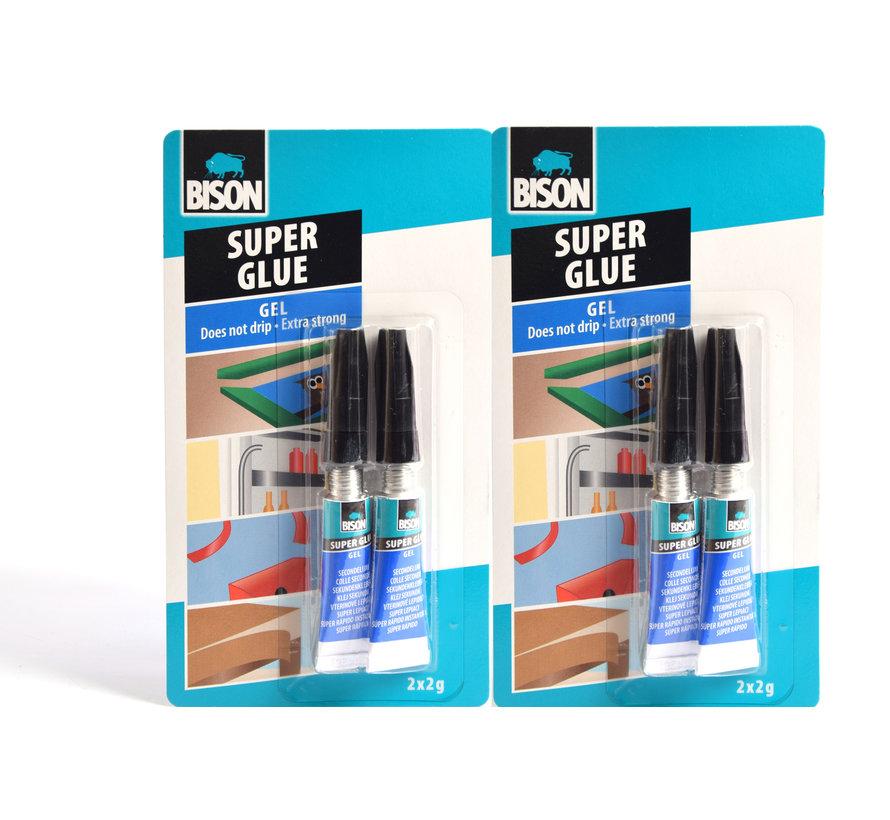 4 Stuks Bison Super glue - Secondelijm 4 X 2g - Extra sterk