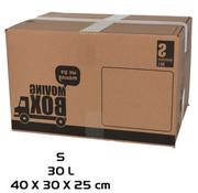 Merkloos Moving box - 10 pieces - 30 liters - Professional, self-closing and sturdy 40 x 30 x 25 cm