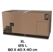 Merkloos Verhuisdoos - 10 stuks - 125 liter - Professioneel,  Stevig Verhuisdozen en stevig 80 x 40 x 40 cm - XLarge