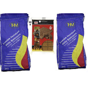 THM 2X charcoal of 2 KG - For The BBQ - including Firelighters - Barbecue - Charcoal