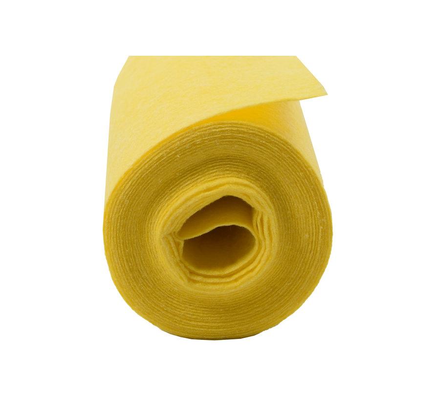 Reinigingsdoek 4 meter rol Poetsdoeken Geel voor schoonmaakdoek  - reinigingsdoek - Sopdoeken - A kwaliteit