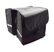 Bikebags Dubbele Fietstas waterdicht met reflecterende strepen voor extra veiligheid - Fietstas- Zwart - 2x 18 Liter