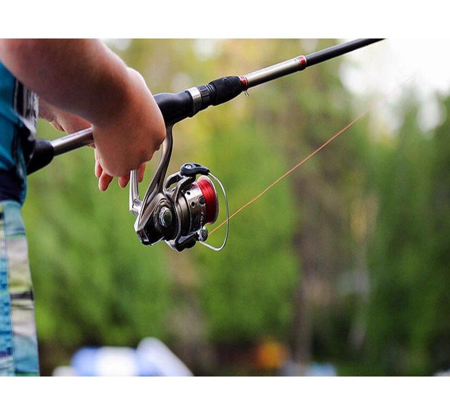 Luxe vishengel en werpmolen 100 % koolstofvezel - werphengel 2.55 meter licht gewicht - Hoge prestatie professionele
