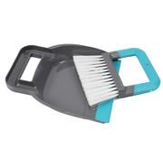Merkloos Cleaning - dustpan and dustpan 19 x 21.5 cm blue - Dust - Tin