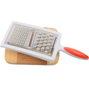 Merkloos Grater With Drip Tray   Grater with drip tray   Handy   stainless steel   Cheese grater  Red/white 12x6x33