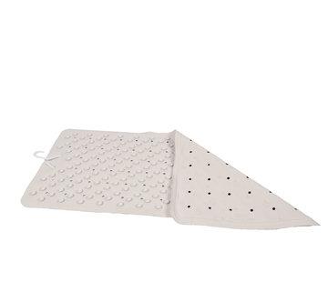 Discountershop Badmat Wit- 76 x 36 cm - antislip mat - voor bad en douche Rubberen Antislip Douchemat - 36x76 cm | Kwaliteit | Wit