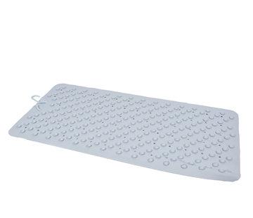Discountershop Badmat Blauw - 76 x 36 cm - antislip mat - voor bad en douche Rubberen Antislip Douchemat - 36x76 cm | Kwaliteit | Blauw