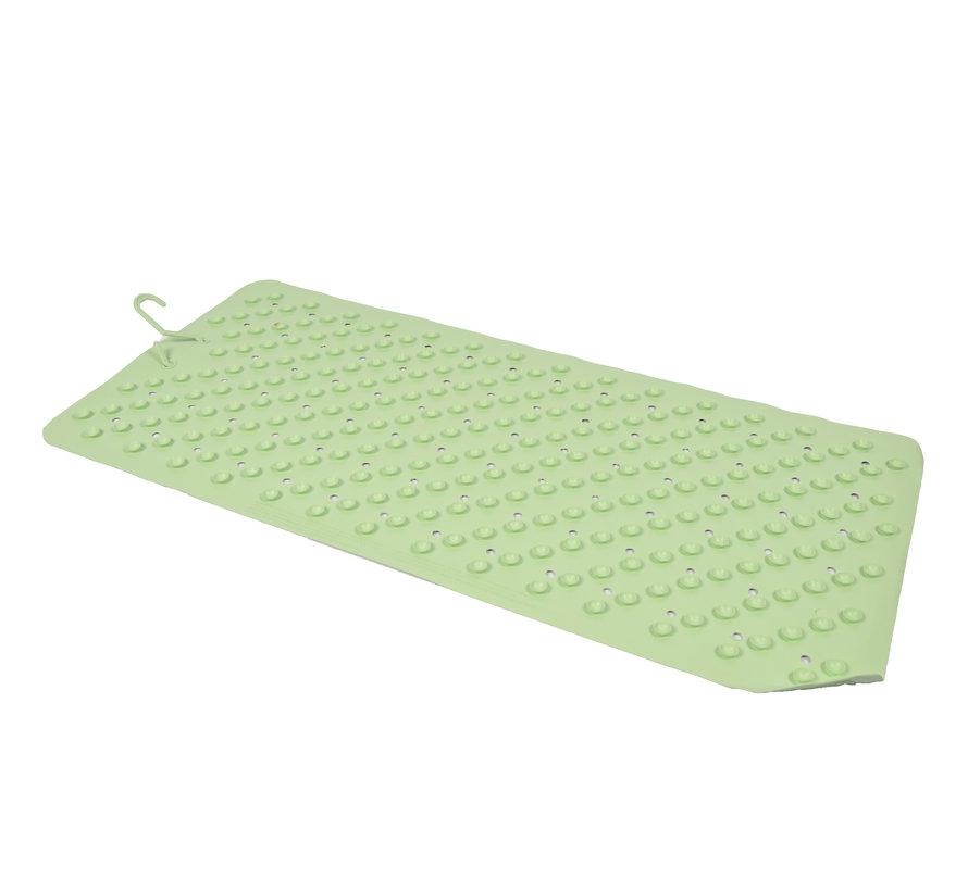 Badmat Groen 76 x 36 cm antislip mat  voor bad en douche Rubberen Antislip Douchemat - 36x76 cm   Kwaliteit   Groen