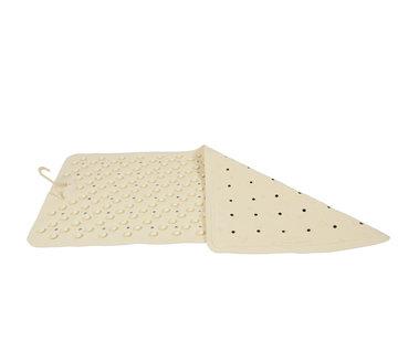 Discountershop Badmat Crème - 76 x 36 cm - antislip mat - voor bad en douche Rubberen Antislip Douchemat - 36x76 cm | Kwaliteit | Crème |