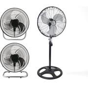 Merkloos Staande ventilator | Ventilator 3-In-1 Zwart statiefventilator