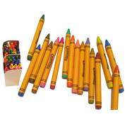 Discountershop Kleurpotloden waskrijt  set 48  kleuren krijtjes waskrijt waspastels met ingebouwde puntenslijper - GEEN GIFTIGE STOFFEN