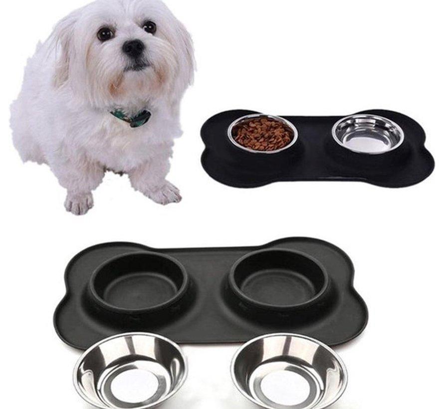 hondenvoerbak, voerbakken, drinkbak, hondenbezitter -  Voerbak hond van RVS 36 cm x 21 cm x 3 cm - hondenvoerbak