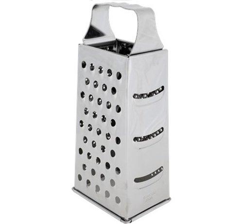 Merkloos  Rasp - Rvs 4 Kanten Multifunctionele Handheld zilver - 8 x 10,5 x 24 cm