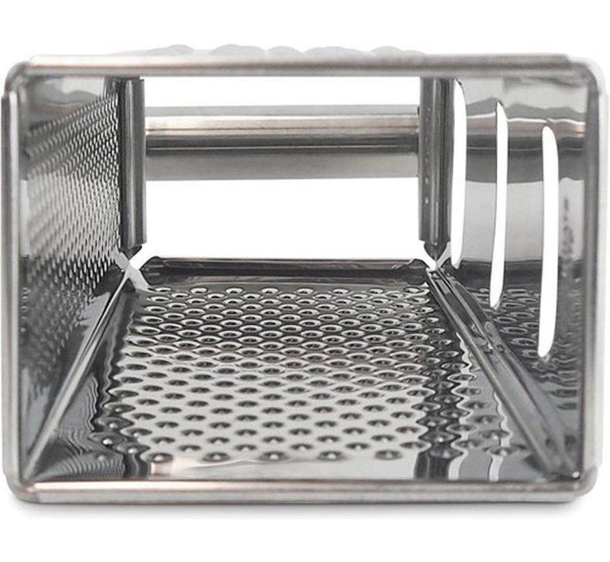 Rasp - Rvs 4 Kanten Multifunctionele Handheld zilver - 8 x 10,5 x 24 cm