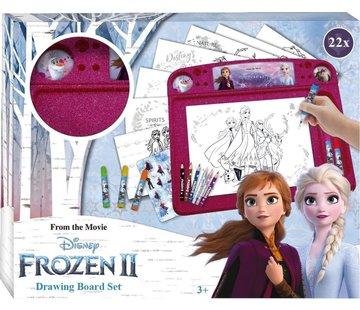 Disney Frozen Frozen tekenbord 22 delig - Frozen Tekenbord Set Junior 40 X 32 Cm Papier 22-delig