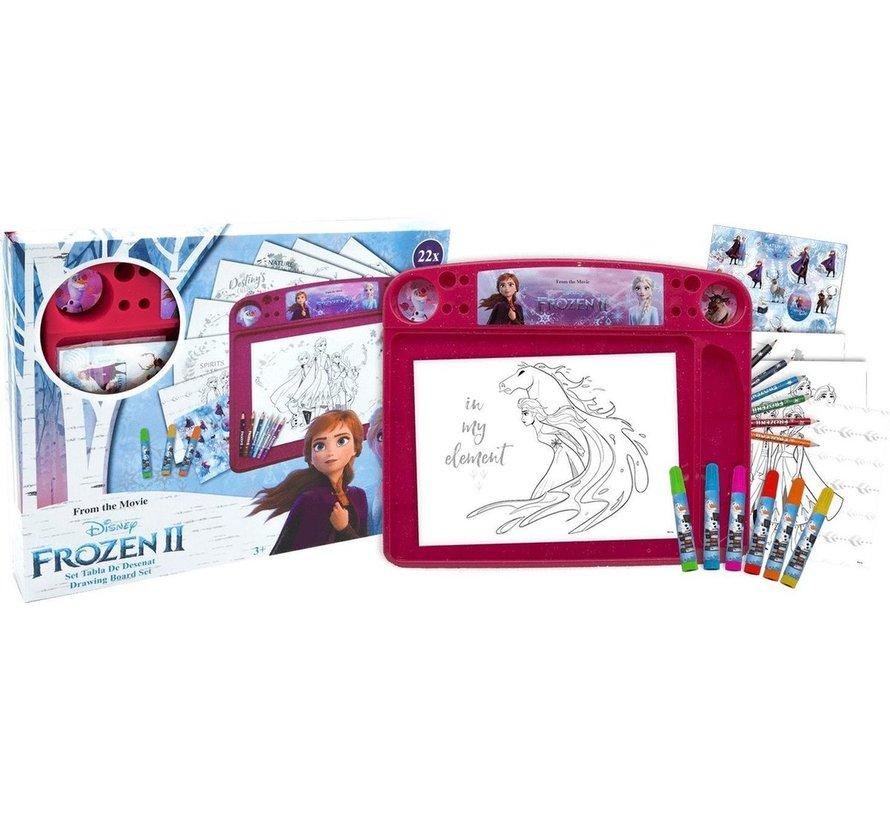 Frozen tekenbord 22 delig - Frozen Tekenbord Set Junior 40 X 32 Cm Papier 22-delig
