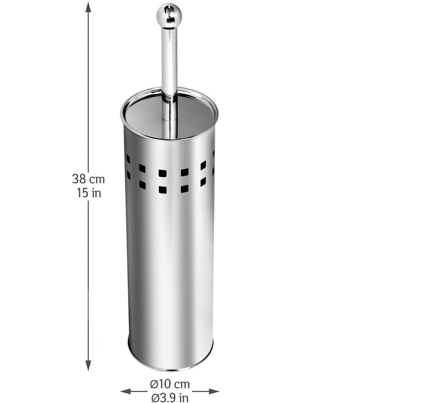 3 Stuks Toiletborstel RVS - Wcborstel RVS Toiletborstel in houder Toiletborstelhouder - Wc borstel - Toiletborstel