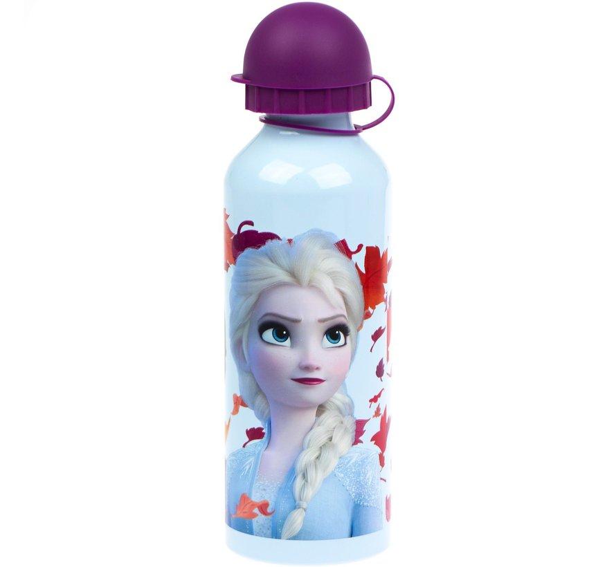 Disney Frozen Kinderdrinkfles veiligheidssluiting 2 stuks- per fles 500 ML - Drinkbeker - Frozen Disney aluminium fles
