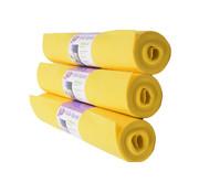 Merkloos 3x 4 meter roll of Cleaning cloths Yellow - cleaning cloth - Cleaning cloths - A quality - 12 meters